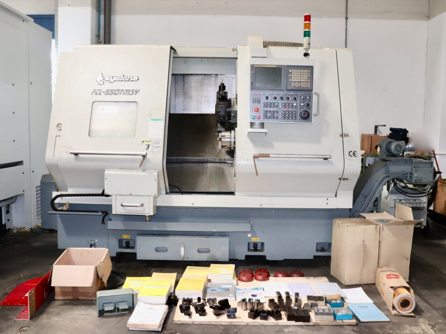 CYCLONE CNC Turning Centre with C axis, sub-spindle and live tooling